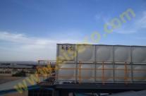مخزن آب کامپوزیت ۷۲ متر مکعبی نصب شده روی سکوی فولادی ۲۰ متری