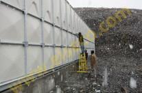 مراحل مونتاژ مخزن 2500 متر مکعبي کامپوزيت سنندج- زمستان 90