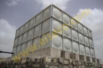 نمای تمام شده مخزن ۱۰۸ متر مکعبی کامپوزیت